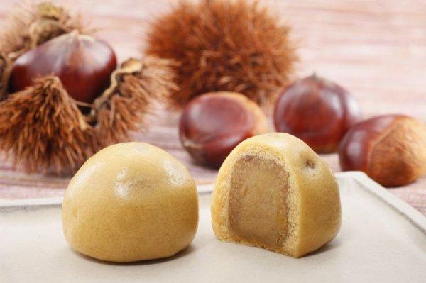 画像1: 栗と芋の薄皮まんじゅう (1)